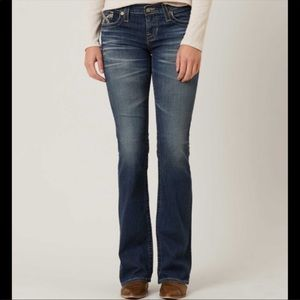 Big Star Liv Bootcut Dark Wash Extra Long Jeans 29